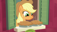 Applejack pleased with her baking S6E10