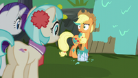 Applejack steps in a paint bucket S5E16