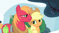 Big Mac and Applejack looking at each other S4E20