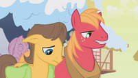 Big McIntosh and Caramel approach Applejack S1E11