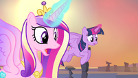 Cadance and Twilight shocked S4E11