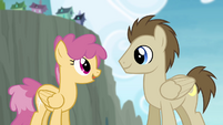 Dizzy Twister talking to Crescent Moon S4E10