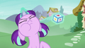 Filly Starlight trying to levitate a toy block S6E1.png