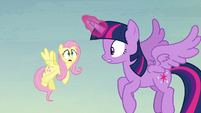 Fluttershy --where the flying pumpkins are coming from-- S5E23