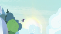 Marmoset floating through the sky S8E15