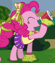 Pinkie Pie cheerleader ID S4E10