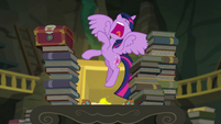Princess Twilight shouting at the library EGFF