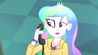 Principal Celestia answering the phone SS8