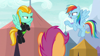 "Rainbow Dash ""beat by half a second"" S8E20"