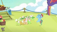 "Rainbow Dash ""last one to the hotel"" S8E5"