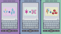 Rarity, Twilight, and Dash's phones EG2