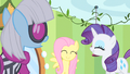 Rarity & Fluttershy happy S1E20.png