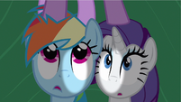 Rarity & Rainbow Dash hear Twilight S2E21