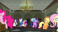 Rarity --I'm dreadfully busy preparing for tonight's grand opening-- S6E9