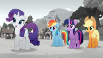 Rarity is planning a festival. Rainbow, Twilight and Applejack 2 Rainbow Roadtrip