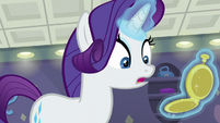 Rarity looking at her pocketwatch S8E4