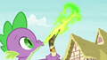 Spike sends a letter to Celestia S5 opening.png