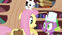 Spike surprises Fluttershy -what was that-- S03E11