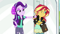 Starlight Glimmer lightly punches Sunset's arm EGS3.png