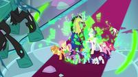 Twilight Sparkle's barrier is shattered S9E24