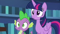 Twilight and Spike in deep surprise S6E21