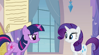 Twilight talking to Rarity S03E12