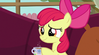 Apple Bloom smiling sympathetically S6E19
