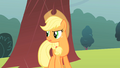 Applejack looking for rain cover S1E08.png