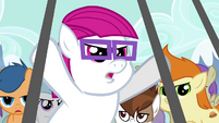 Bespectacled colt at the gate S4E15