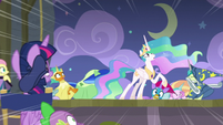 Celestia using the Royal Canterlot Voice S8E7