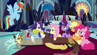 Discord weakly addressing Rainbow Dash S9E2