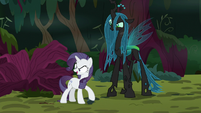 Fake Rarity taking possession of a twig S8E13