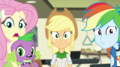 Fluttershy, AJ, and Rainbow looking worried EGS1.png