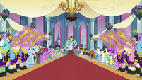 Ponies playing instruments wedding entrance S2E26
