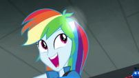 Rainbow's pony ears still trying to appear EG2