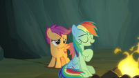 "Rainbow Dash ""it's about my favorite legend"" S7E16"