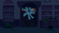 Rainbow Dash enters the bakery kitchen S6E15