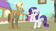 Rarity blushes while laughing nervously S4E13