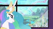 S03E02 Celestia patrzy na widok z Kryształowego Królestwa