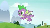 Spike flying through the air again S8E24