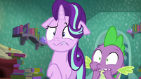 Starlight Glimmer and Spike shocked S6E2