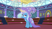 Trixie finds Discord's bananaphone in her hat S8E15