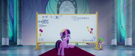Twilight Sparkle begins her explanation MLPTM