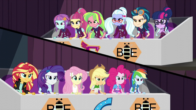 File:Wonderbolts and Shadowbolts on opposing sides EG3.png