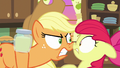 Applejack glaring angrily at Apple Bloom S7E13.png