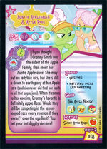 Auntie Applesauce & Apple Rose Enterplay series 2 trading card back