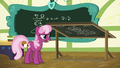 Cheerilee angrily turns the chalkboard around S6E15.png
