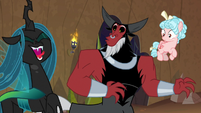 Chrysalis laughing at Grogar's task S9E8