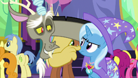 Discord boops Trixie on the nose S7E1