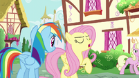 Fluttershy --Zephyr's my brother, and I love him-- S6E11